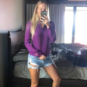 Purple dress blouse